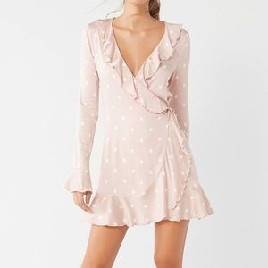 UO Long Sleeved Wrap Dress